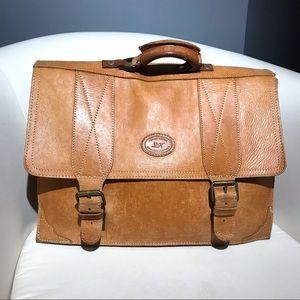 Handmade vintage briefcase
